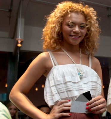 A model helped me with my grey cards as I shot one of the shows put on by the Kent Fashion School.