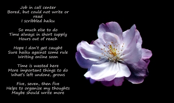 When stuck at my terrible call center job, I wrote haiku to keep my mind occupied.
