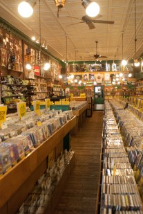 This is about 1/3 of the record store we found.