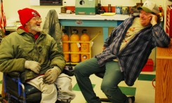 he Star of the West milling company welcomes Georgie in. Here, he enjoys a laugh with Dennis Trautmarl. This is the kind of warmth that seems to follow Georgie wherever he goes in this community.