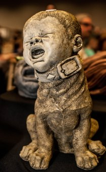There was a guy selling nothing but sculptures with creepy baby faces.
