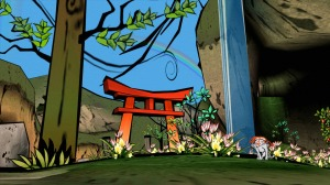 Screenshot from Capcom's 'Okami.'