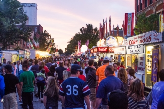 This was the crowd I had to battle to get my amazing/terrible festival food.